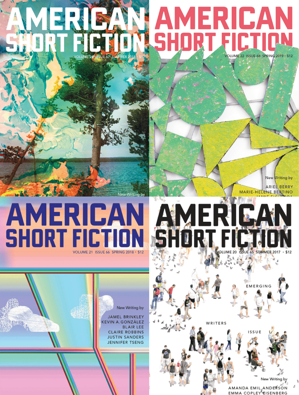 Collage of literary magazine covers