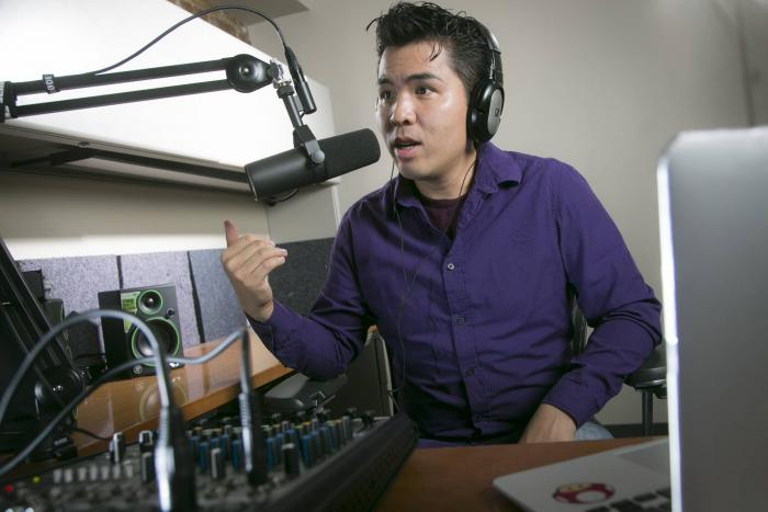 Lam in his recording studio, photo by Duke Photography/Megan Mendenhall