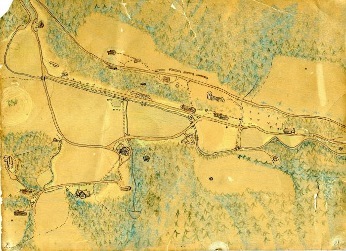 Map of Pine Mountain Settlement School, c. 1940s?, Anonymous