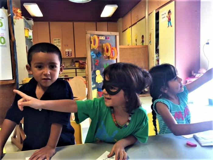 Youth participants in the P4C in the Borderlands program at Rayito de Sol Daycare and Learning Center in El Paso. Photo by Amy Reed-Sandoval.