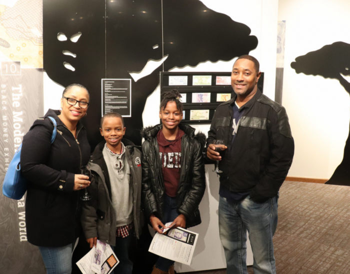 Attendees of the Black Money Exhibit pilot at the Auburn Avenue Research Library on African American Culture and History
