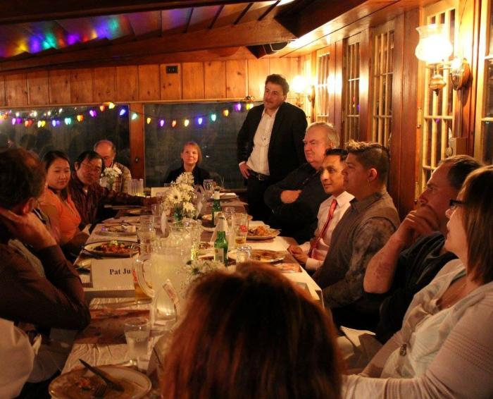 Lands We Share project director James Levy facilitates a community dinner and conversation with Wisconsin residents