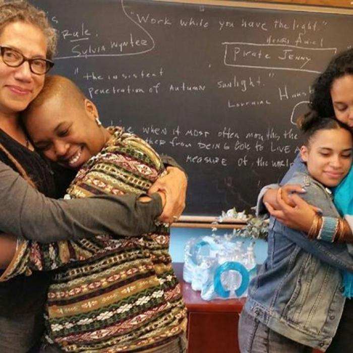 Nikky Finney, Ruth Nicole Brown and Black Girl Geniuses at BGGW - photo by @dirtydee86