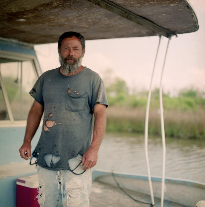 Louisiana fisherman; photo by Colin Roberson