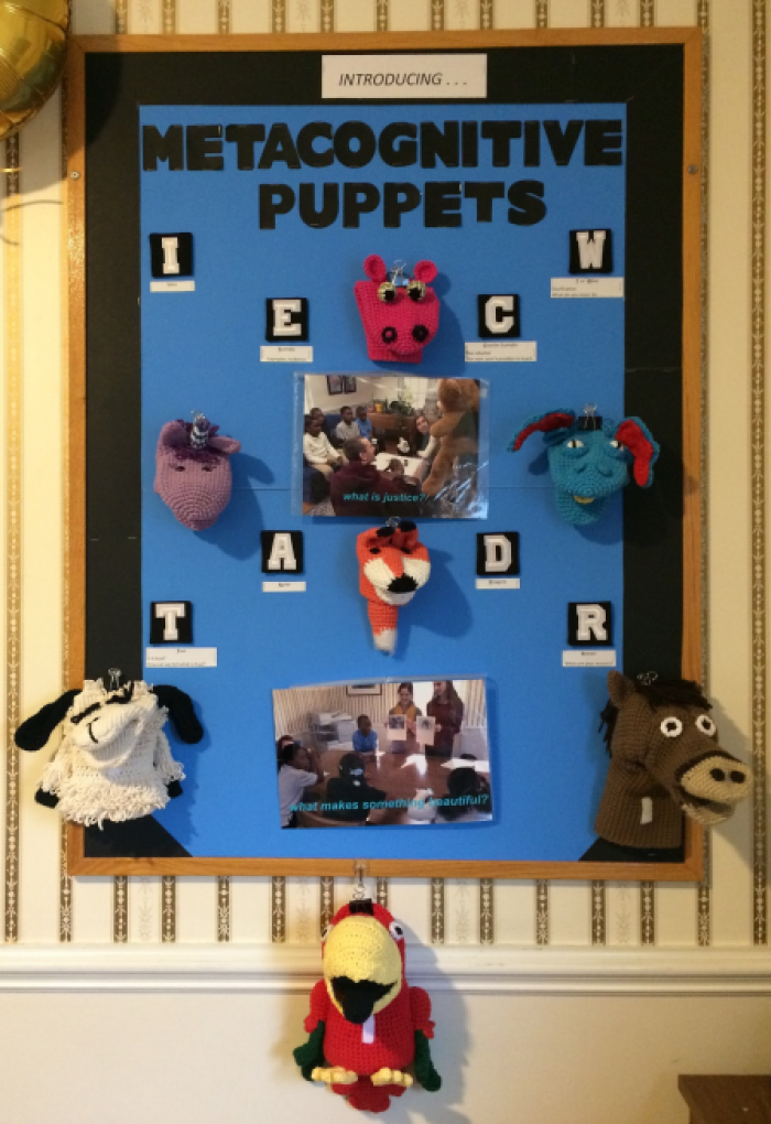 Metacognitive Puppets created by Patti Filutze for Philosophy in Education