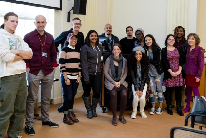 Faculty and Student Participants in the Brooklyn College Listening Project (photo by Phil Napoli)