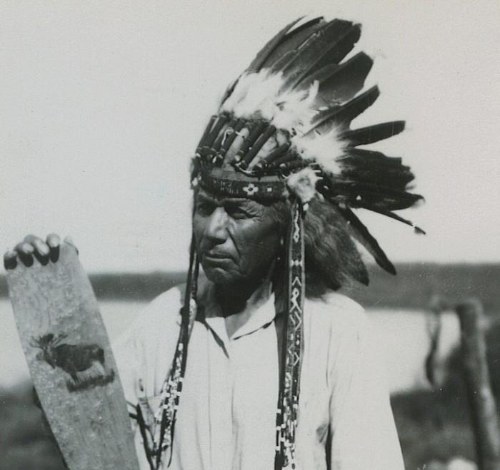Sabattis Tomah, Peter Dana Point, Indian Township, Maine, Courtesy of Donald Soctomah, Passamaquoddy Tribe.